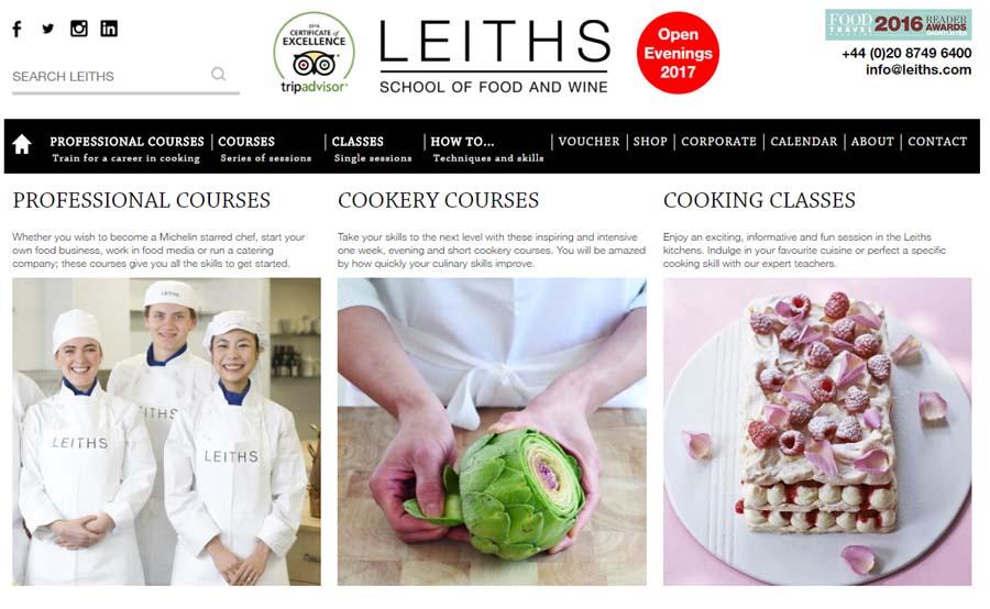 Le migliori scuole di cucina a Londra