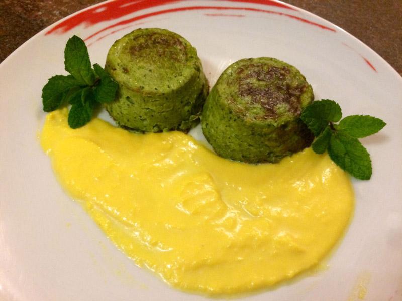 Sformatino di broccoli con salsa allo zafferano